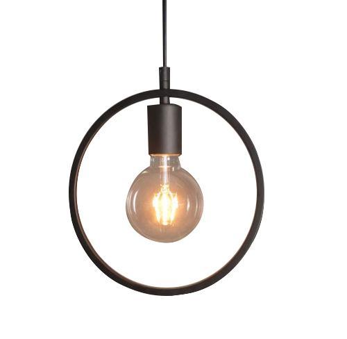 Black globe geometric industrial pendant lamp light
