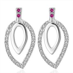 Vienna Jewelry Sterling Silver Abstract Circular Drop Drop Earring - Thumbnail 0