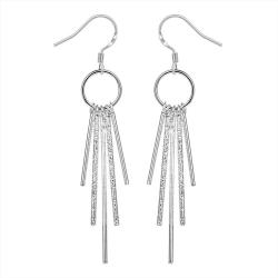 Vienna Jewelry Sterling Silver Drop Crystals Earring - Thumbnail 0
