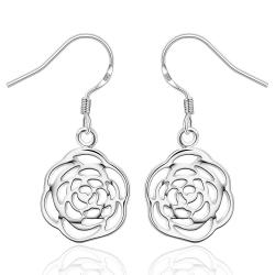 Vienna Jewelry Sterling Silver Laser Cut Spiral Floral Drop Earring - Thumbnail 0