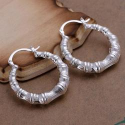 Vienna Jewelry Sterling Silver Curved Abstract Hoops - Thumbnail 0