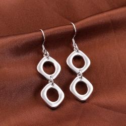 Vienna Jewelry Sterling Silver Double Hollow Oval Shape Earring - Thumbnail 0