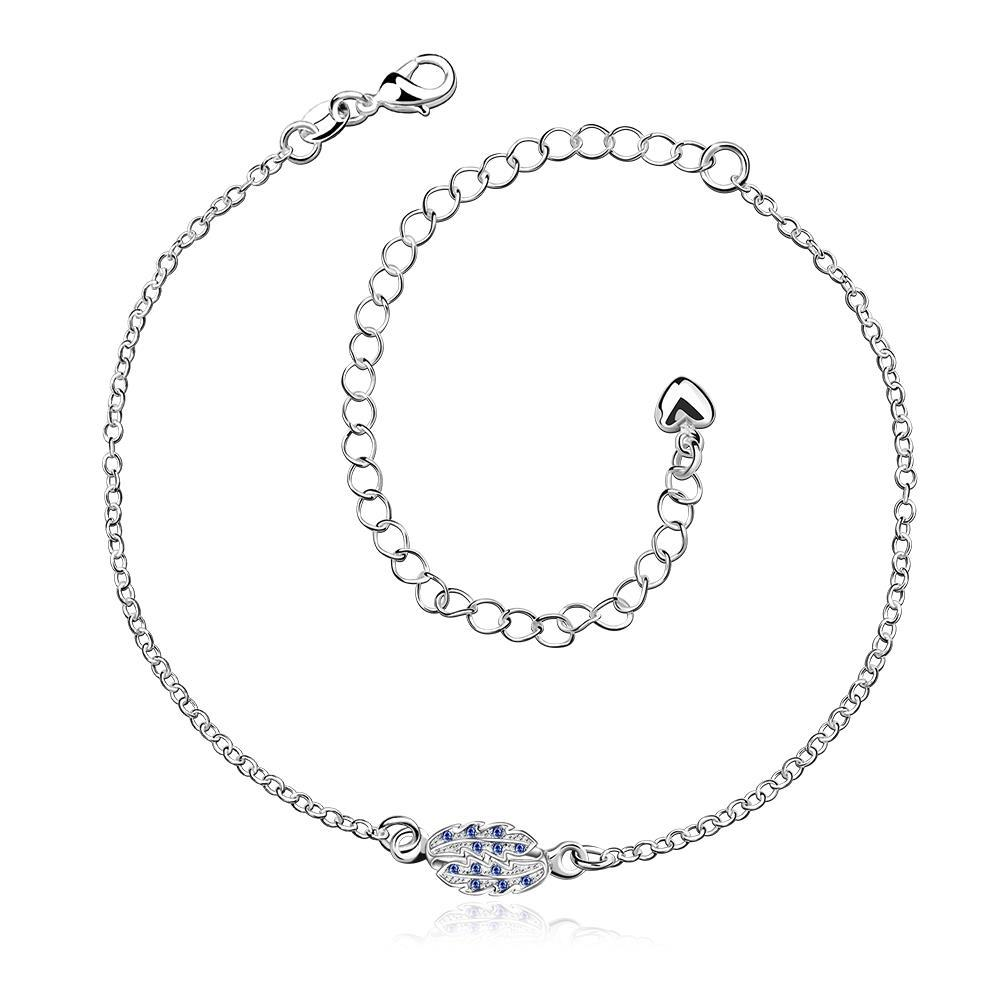 Vienna Jewelry Mock Sapphire Grape Vine Orchid Anklet