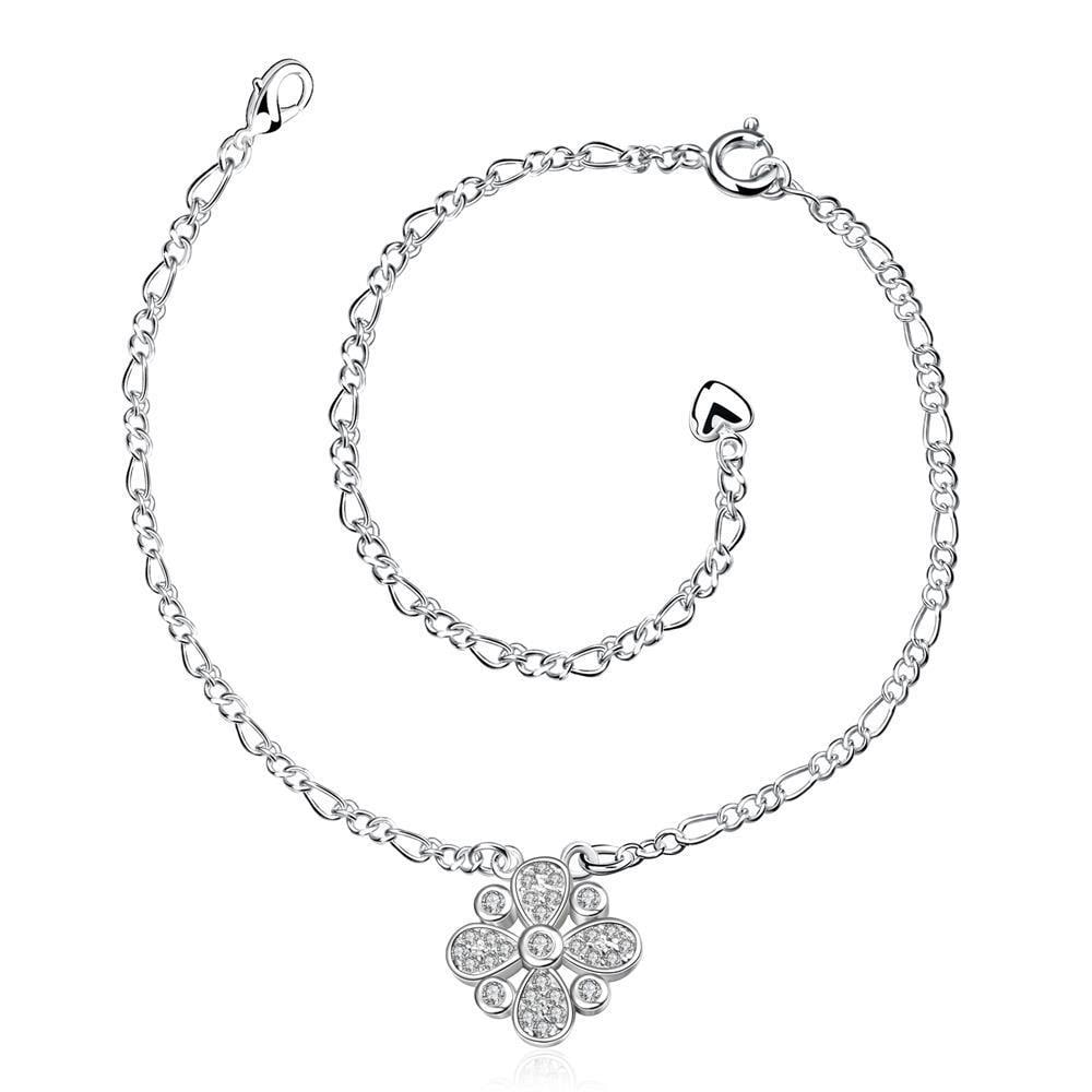 Vienna Jewelry Jewels Clover Pendant Petite Anklet
