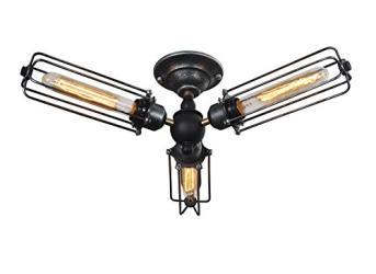 3 light vintage industrial edison ceiling lamp light