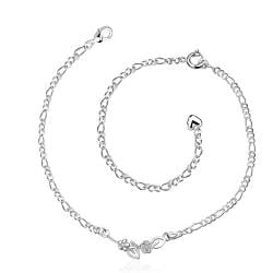 Vienna Jewelry Petite Abstract Emblem Anklet