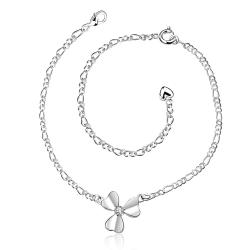 Vienna Jewelry Trio-Clover Petals Petite Anklet - Thumbnail 0