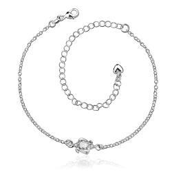 Vienna Jewelry Mini Crystal Stone Gem Classic Anklet