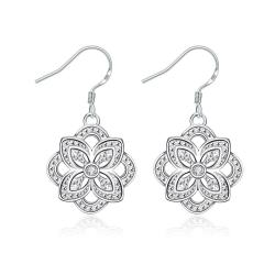 Vienna Jewelry Hollow Floral Petal Drop Earrings