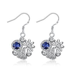 Vienna Jewelry Petite Sapphire Blossoming Floral Drop Earrings