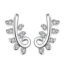 Vienna Jewelry Crystal Jewels Swirl Tree Branch Dangling Earrings