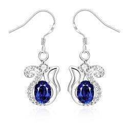 Vienna Jewelry Mock Sapphire Open Design Drop Earrings