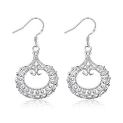 Vienna Jewelry Hollow Laser Cut Hoop Earrings