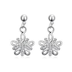 Vienna Jewelry Crystal ewels Clover Drop Earrings