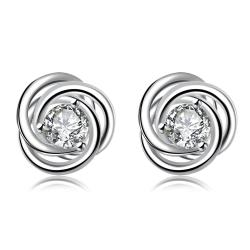 Vienna Jewelry Silver Tone Trio-Circular Stud Earrings