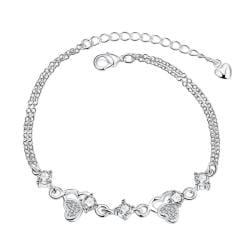 Vienna Jewelry Crystal Stone Triangular Emblem Petite Anklet