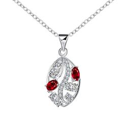 Vienna Jewelry Trio-Ruby Jewels Crystal Lining Drop Necklace