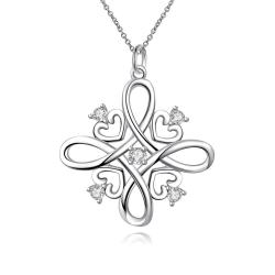 Vienna Jewelry Spiral Love Design Pendant Drop Necklace