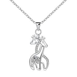 Vienna Jewelry Loving Horses Pendant Necklace - Thumbnail 0