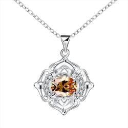 Vienna Jewelry Petite Orange Citrine Pendant Drop Necklace