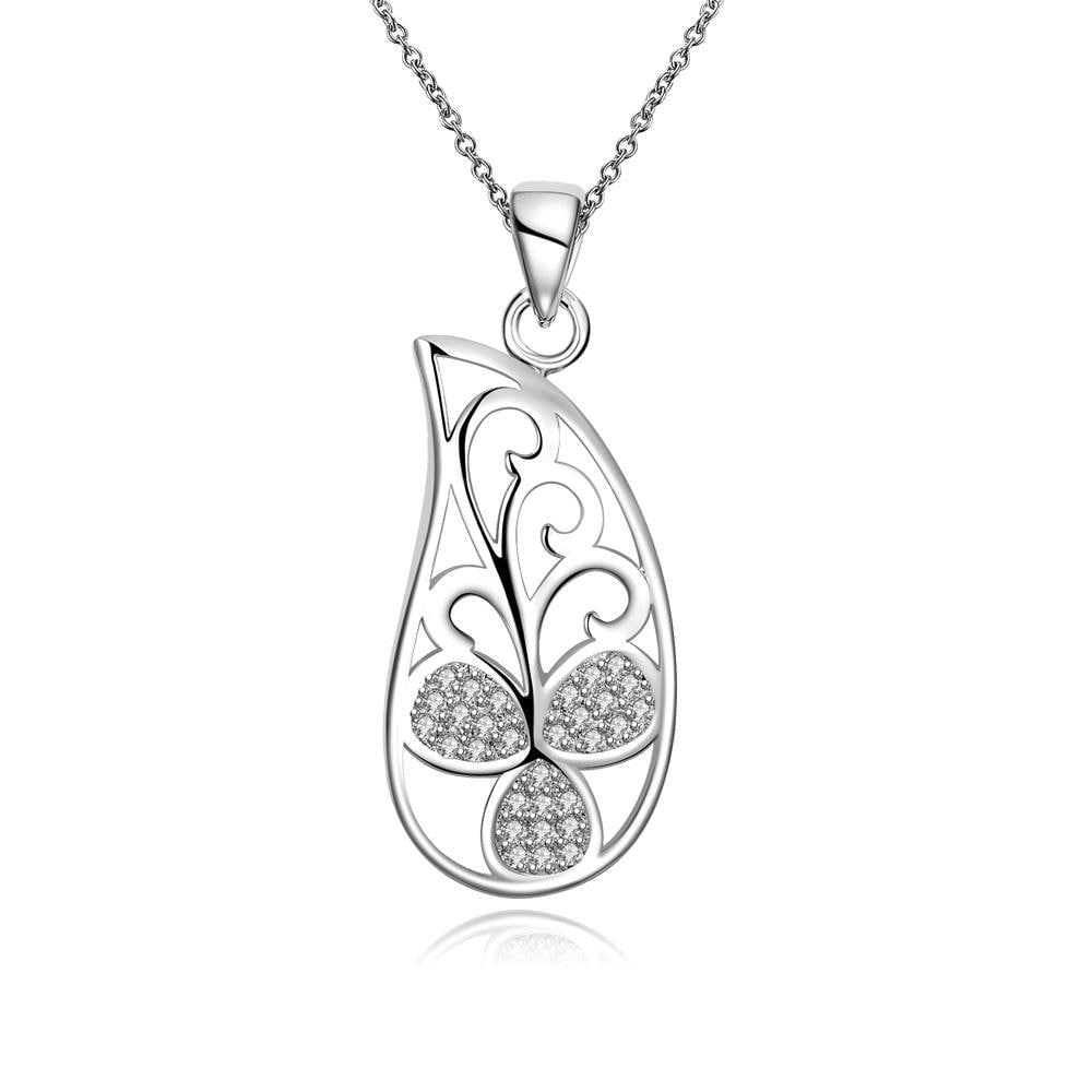 Vienna Jewelry Curved Butterfly Spiral Jewels Design Drop Necklace