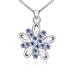 Vienna Jewelry Mock Sapphire X Marks The Spot Drop Necklace