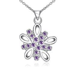 Vienna Jewelry Purple Citrine X Marks The Spot Drop Necklace