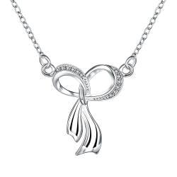 Vienna Jewelry Dangling Infinite Emblem Drop Necklace