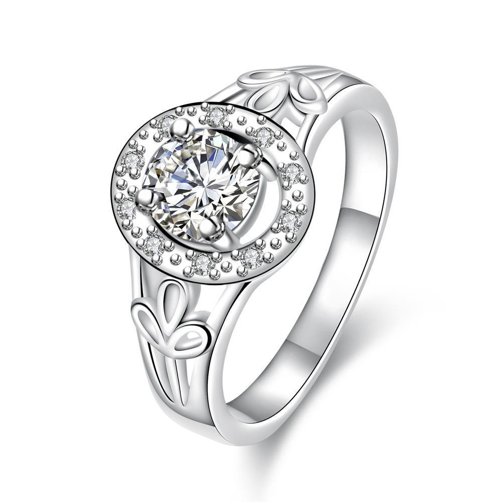 Petite Classic Stone Circular Emblem Ring Size 8