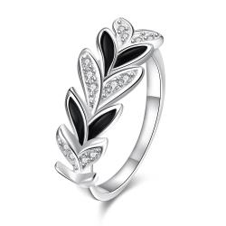 Multi Onyx Covering Floral Orchid Petite Ring Size 8 - Thumbnail 0