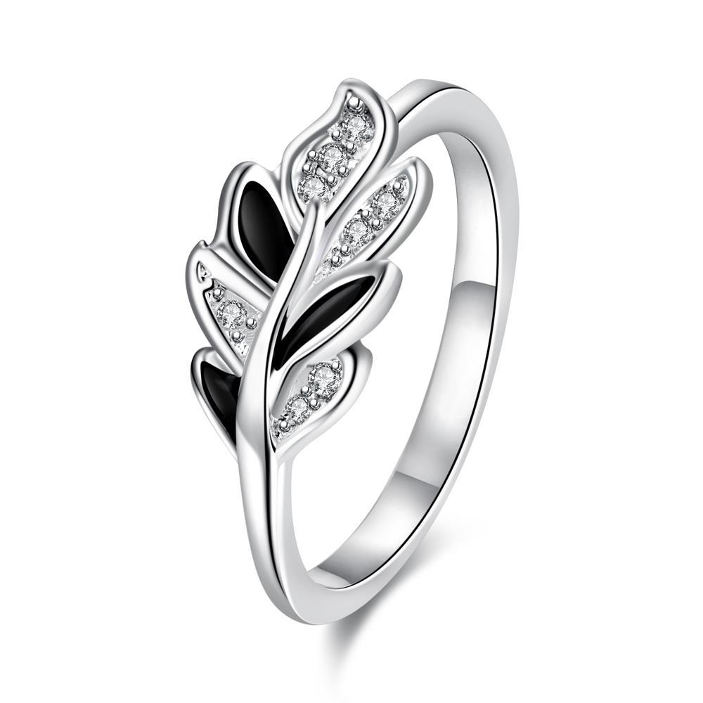 Onyx Covering Petite Floral Orchid Ring Size 8