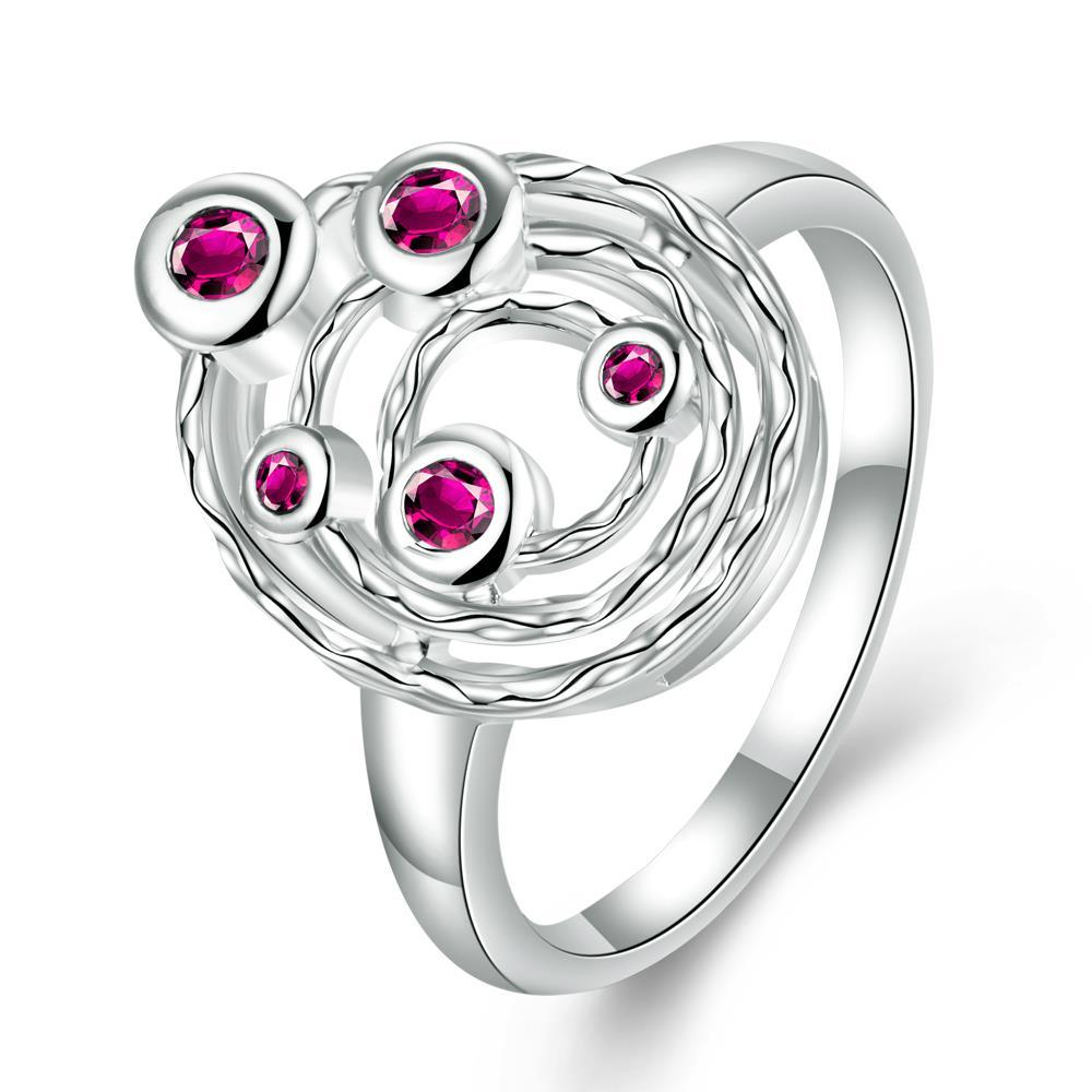 Coral Citrine Petite Gems Swirl Emblem Ring Size 8