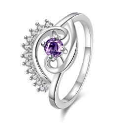 Vienna Jewelry Petite Purple Citrine Jewels Spiral Design Ring Size 7