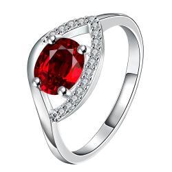 Vienna Jewelry Petite Ruby Open Clasp Petite Ring Size 8 - Thumbnail 0