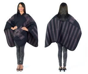 Women's Fall Winter Poncho Cape Shawl Wrap, Beige - Thumbnail 0