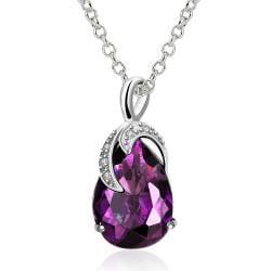 Vienna Jewelry Purple Citrine Grape Vine Classic Necklace