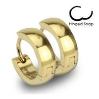 Gold Plated Stainless Steel Hoop Earrings