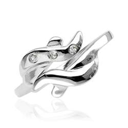 .925 Sterling Silver Toe Ring With Cubic Zirconia