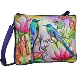 Women's Anuschka Hand Painted Triple Compartment Crossbody Spring Passion