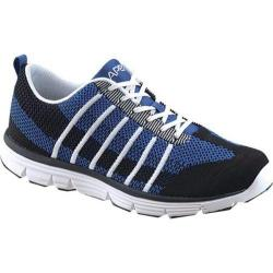 Men's Apex Bolt Athletic Knit Lace Up Sneaker Navy/Black Knit