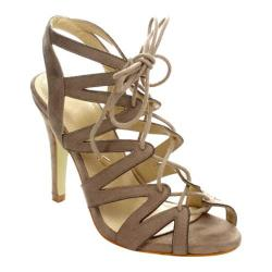 Women's Beston Betty-11 Strappy Sandal Taupe Faux Suede