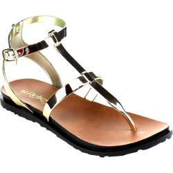 Women's Beston Chic-01 Thong Sandal Champagne PVC