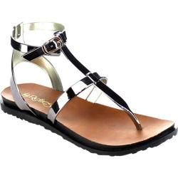 Women's Beston Chic-01 Thong Sandal Pewter PVC