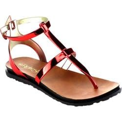Women's Beston Chic-01 Thong Sandal Red PVC