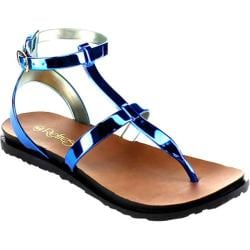 Women's Beston Chic-01 Thong Sandal Royal Blue PVC