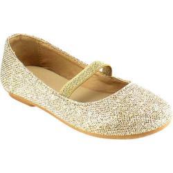 Girls' Beston Demi-07K Mary Jane Champagne Glitter Faux Leather