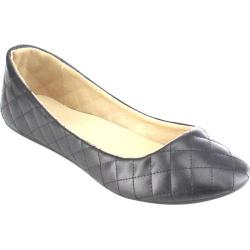 Women's Beston Demi-09 Slip On Flat Black Faux Leather