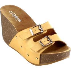 Women's Beston Mara-11 Wedge Slide Camel Faux Leather