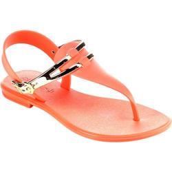 Women's Beston Sahara-01 T Strap Sandal Coral PVC