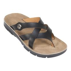 Women's Cliffs by White Mountain Bancroft Thong Sandal Black Smooth Synthetic